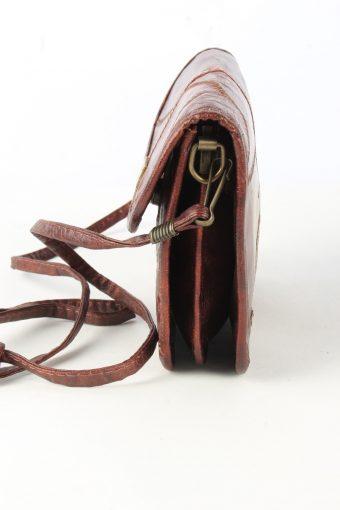 Leather Shoulder Mini Bag Womens Vintage 1990s Brown -BG1265-155045
