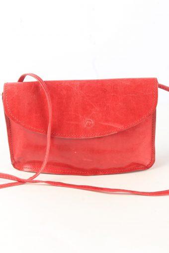 Leather Shoulder Mini Bag Womens Vintage Marc Chantal 1990s Red