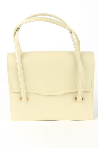 Leather Mini Hand Bag Womens Vintage Assima 1990s Beige