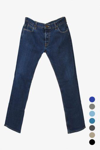 Mens Lee Powell Slim Straight Leg Stretch Jeans Zip Fly