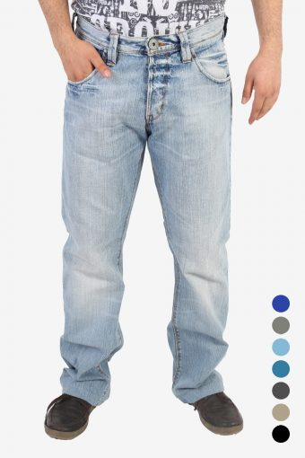 Lee Kent Jeans Loose Fit Straight Leg Men Vintage Grade A