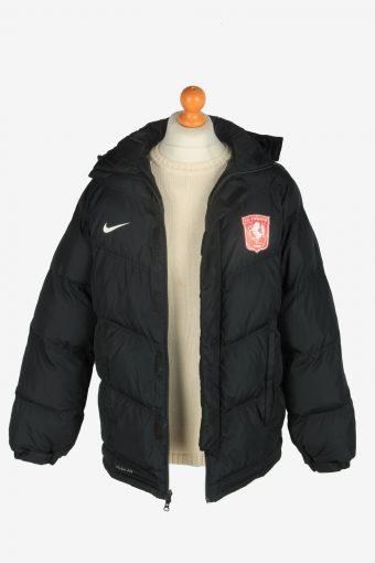 Mens Nike Puffer F.C Twente Long Jacket Vintage Size M Black C2506-158160