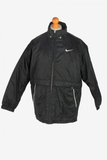 Mens Nike Puffer Jacket Padded Vintage Size S Black C2515