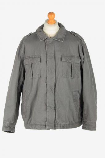 Mens Faded Glory Outdoor Workear Jacket Vintage Size XXL Grey C2527