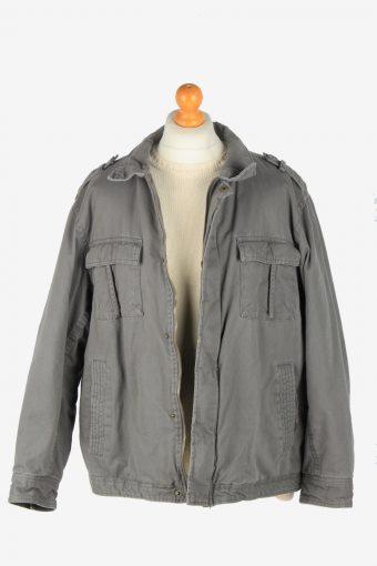 Mens Faded Glory Outdoor Workear Jacket Vintage Size XXL Grey C2527-158265