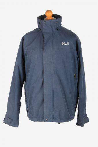 Mens Jack Wolfskin Texapore Waterproof Jacket Vintage Size L Navy C2528