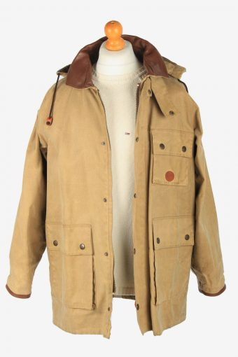 Mens Mullberry Country Patched Overcoat Vintage Size M Coffee C2535-158305