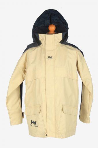 Mens Helly Hansen  Sailing Waterproof Jacket Vintage Size S Beige C2430