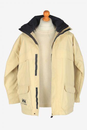 Mens Helly Hansen Sailing Waterproof Jacket Vintage Size S Beige C2430-157518