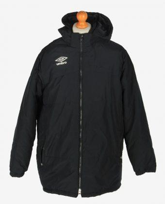 Mens Umbro Puffer Jacket Vintage Size XL Black C2436-0