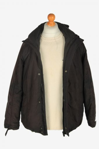 Mens Adidas Puffer Jacket Vintage Size S Black C2442-157578