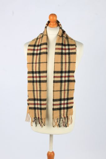 Mens Womens Tartan Check Fleece Scarf Super Soft Scarves Neck Warmer With Tassle