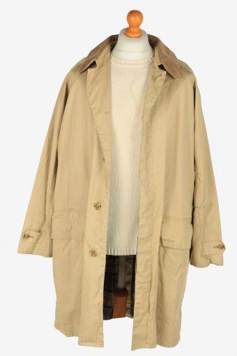Mens Barbour Three Quarter Overcoats Vintage Size L Light Coffee C2398-157353