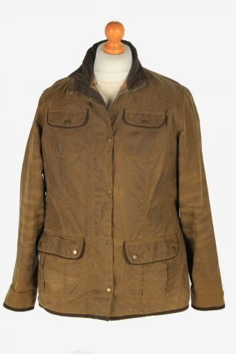 Womens Barbour Utility Jackets Vintage Size XL Dark Brown C2400