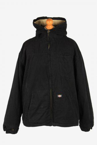 Mens Dickies Fur Lining Hooded Jacket Vintage Size XXXL Black C2652