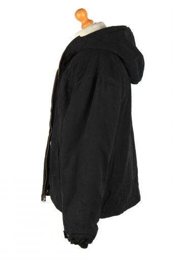 Mens Dickies Fur Lining Hooded Jacket Vintage Size XXXL Black C2652-158991