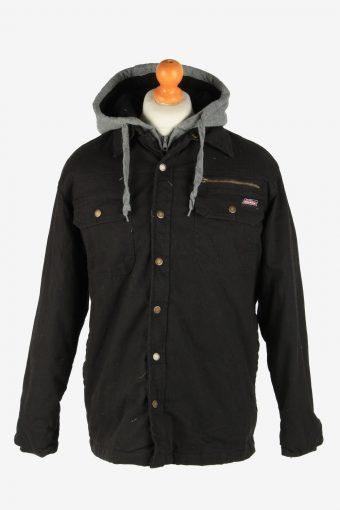 Mens Dickies Insulated Overshirt Jacket Vintage Size M Black C2653