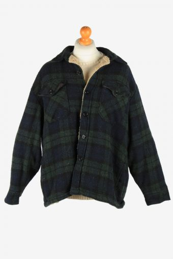 Mens Woolrich Makinaw USA Hunting Jacket Vintage Size XL Multi C2655