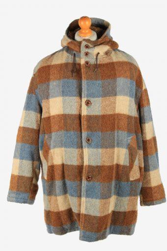 Mens Field Streaw Aztek Print Wool Coat Vintage Size XL Multi C2661