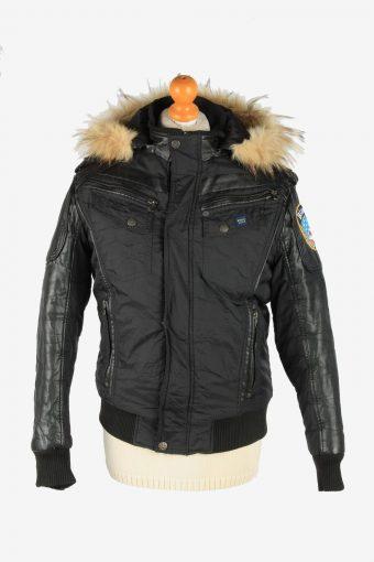 Mens Blaver Bomber Coat Jacket Vintage Size M Black C2665