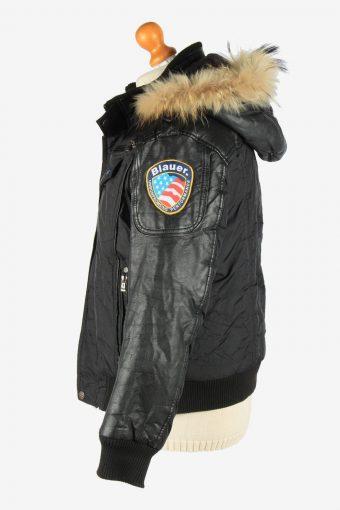 Mens Blaver Bomber Coat Jacket Vintage Size M Black C2665-159056