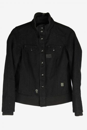 Mens G-Star Raw Slim Bomber Jacket Vintage Size S Black