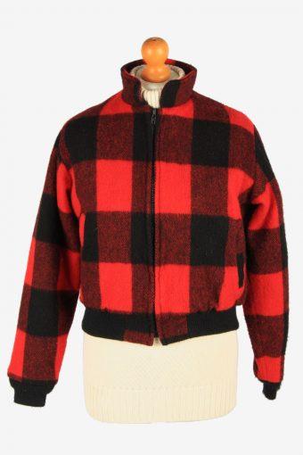 Womens Woolrich Bufolo Wool Jacket Vintage Size L Multi C2667