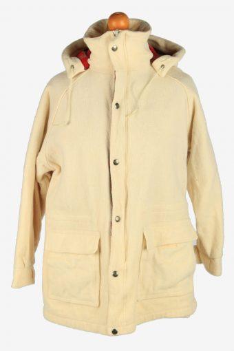 Mens Woolrich Harrington Wool Jacket USA Vintage Size M Beige C2668