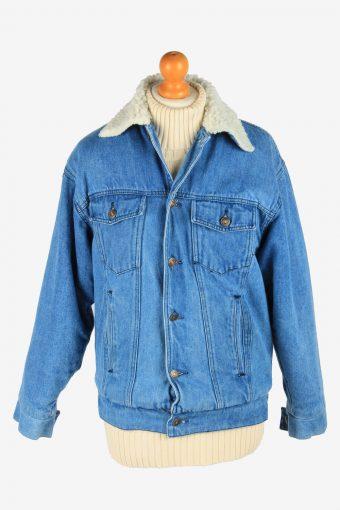 Mens Denim Sherpha Vintage Size M Blue C2674