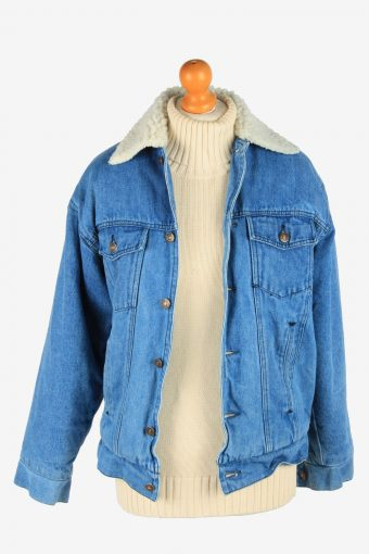 Mens Denim Sherpha Vintage Size M Blue C2674-159101