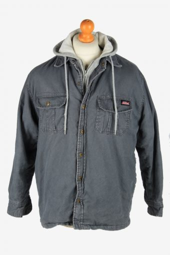 Mens Dickies Insulated Overshirt Jacket Vintage Size M Grey C2686