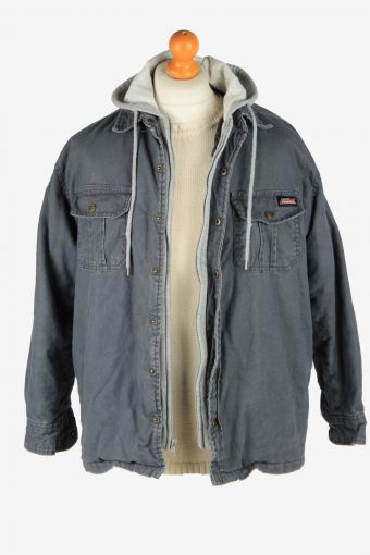 Mens Dickies Insulated Overshirt Jacket Vintage Size M Grey C2686-159241