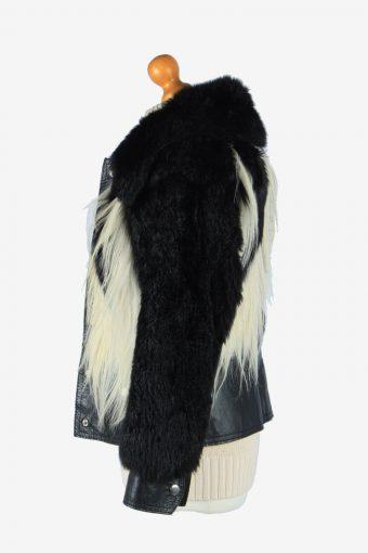 Women's Real Fur Coat Luxury Fluffy Elagant Vintage Size XS Multi C2644-158907