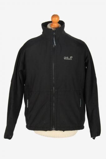 Mens Jack Wolfskin Outdoor Thermal Jacket Vintage Size L Black C2446