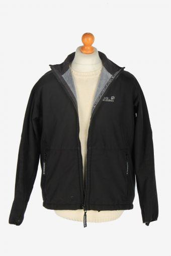 Mens Jack Wolfskin Outdoor Thermal Jacket Vintage Size L Black C2446-157615