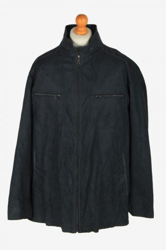 Mens Pierre Cardin Suede Jacket Vintage Size XXL Black C2452