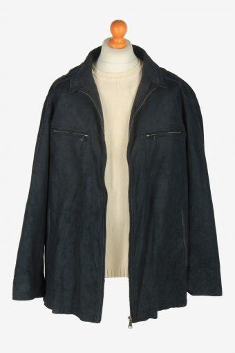 Mens Pierre Cardin Suede Jacket Vintage Size XXL Black C2452-157645