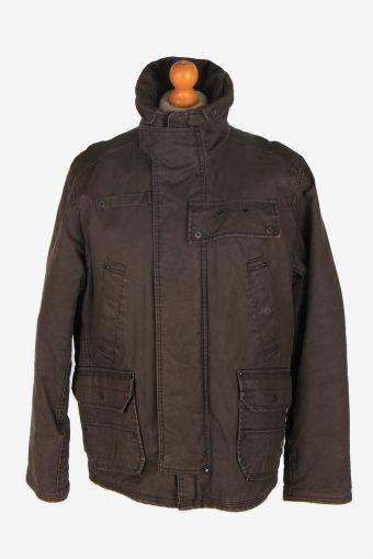 Mens G-Star Raw Outdoor Hunting Coat Vintage Size XL Dark Brown