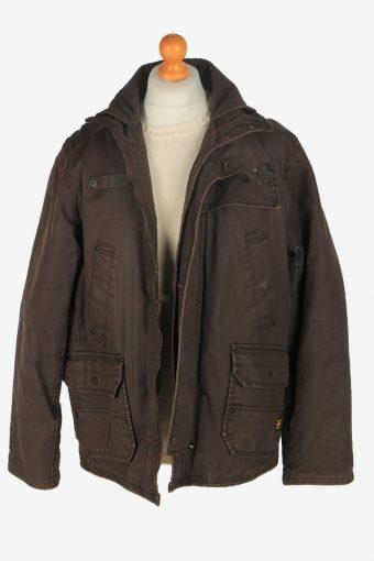 Mens G-Star Raw Outdoor Hunting Coat Vintage Size XL Dark Brown C2455-157660