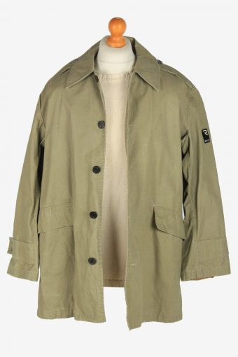Mens G-Star Raw Outdoor Army Jacket Vintage Size L Light Green C2458-157675