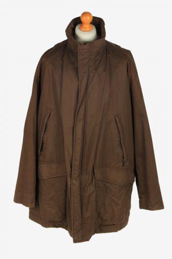 Mens Pierre Cardin Overcoat Jacket Vintage Size XXXL Dark Brown C2459