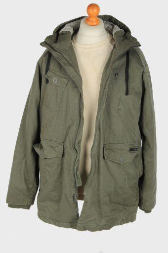 Mens Star Outdoor Overcoat Vintage Size L Green C2460-157685