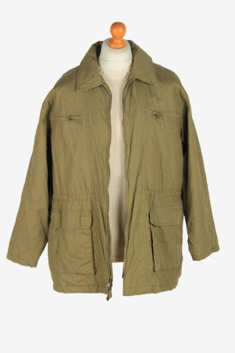 Mens Pasific Club Shell Body Coat Vintage Size M Green C2467-157716