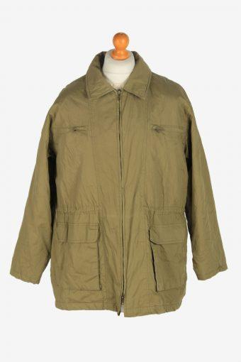 Mens Pasific Club Shell Body Coat Vintage Size M Green C2467