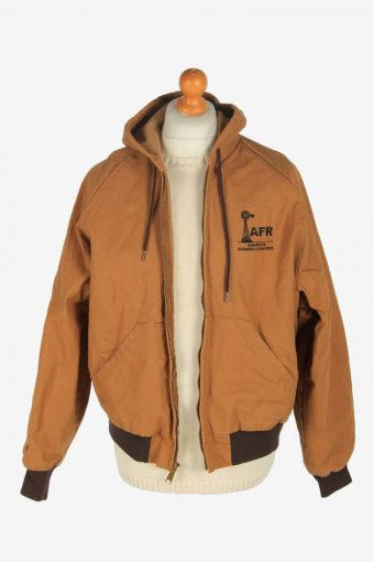 Mens Hoodies Jacket Vintage Size L Brown C2470-157731