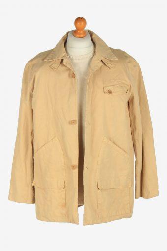Mens Mansoon Overcoat Jacket Vintage Size L Beige C2471-157736