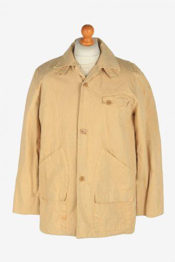 Mens Mansoon Overcoat Jacket Vintage Size L Beige C2471