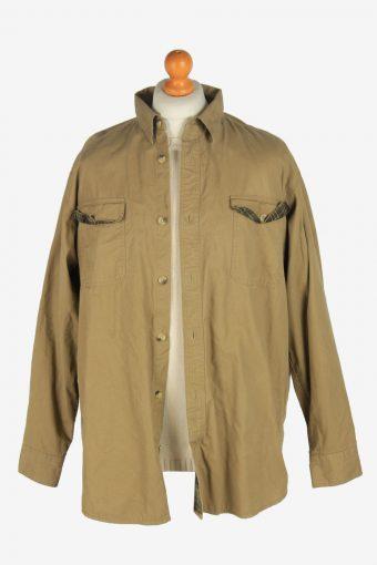 Mens Shirt Lined Jacket Vintage Size L Light Green C2472-157741