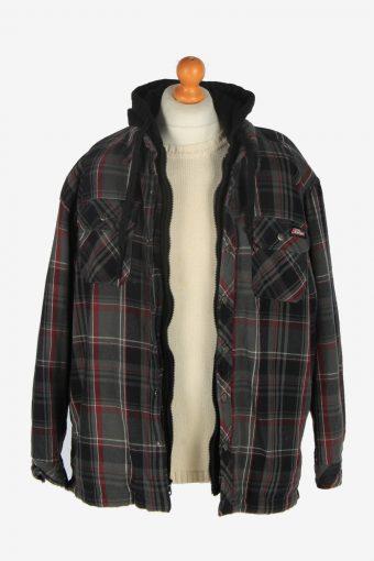 Mens Dickies Hooded Shirt Jacket Vintage Size XL Grey C2473-157746