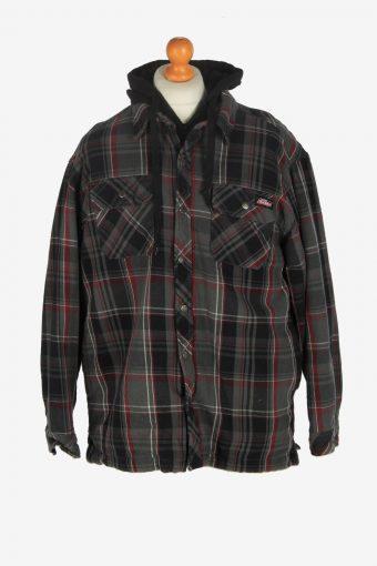 Mens Dickies Hooded Shirt  Jacket Vintage Size XL Grey C2473